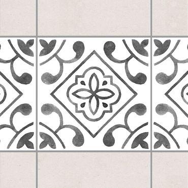 Adesivo per piastrelle - Pattern Gray White Series No.2