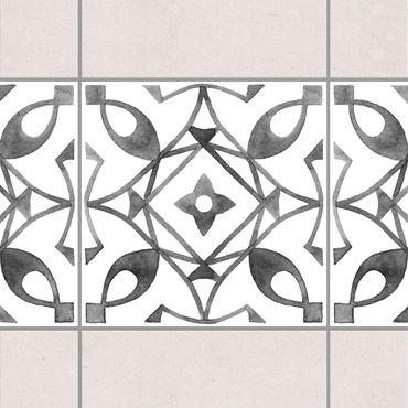Adesivo per piastrelle - Pattern Gray White Series No.8