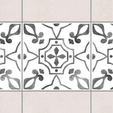 Adesivo per piastrelle - Pattern Gray White Series No.9