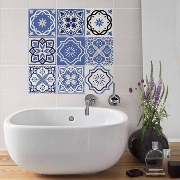 Adesivo per piastrelle - Set - 9 Portuguese tiles 10cm x 10cm