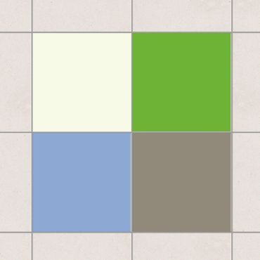 Adesivo per piastrelle - Colour Set Spring 20cm x 15cm