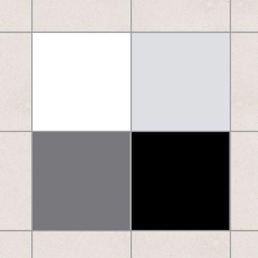 Adesivo per piastrelle - Colour Set Monochrom 20cm x 15cm