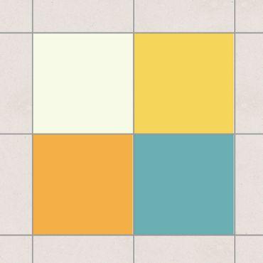 Adesivo per piastrelle - Colour Set Summer 20cm x 15cm