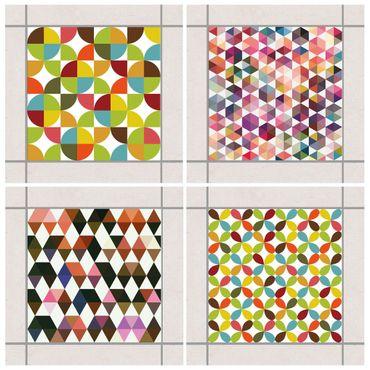Adesivo per piastrelle - Geometric Pattern 10cm x 10cm