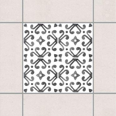 Adesivo per piastrelle - Gray White Pattern Series No.7