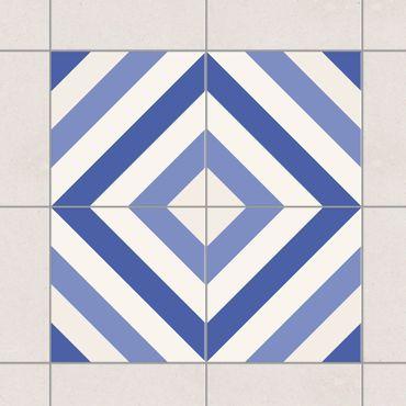 Adesivo per piastrelle - Set - Moroccan tiled backsplash from 4 tiles 10cm x 10cm