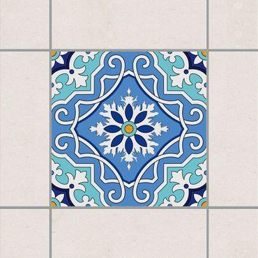 Adesivo per piastrelle - Mediterranean tile pattern blue turquoise 10cm x 10cm