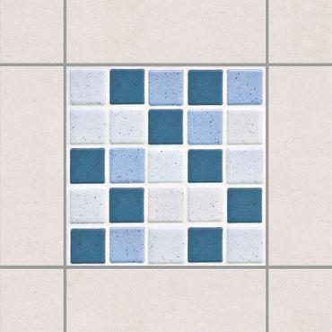 Adesivo per piastrelle - Mosaic Tiles Blue Gray 10x10 cm