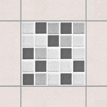 Adesivo per piastrelle - Mosaic Tiles Gray 10x10 cm