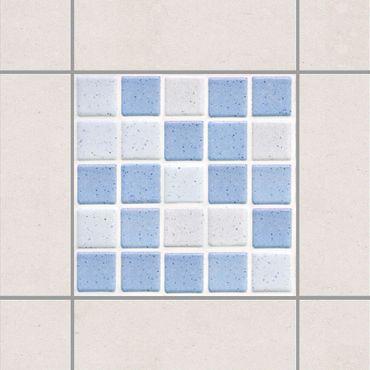 Adesivo per piastrelle - Mosaic Tiles Light Blue 10x10 cm