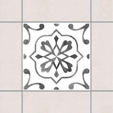 Adesivo per piastrelle - Pattern Gray White Series No.4