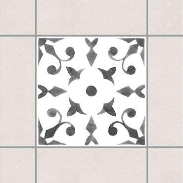 Adesivo per piastrelle - Pattern Gray White Series No.6