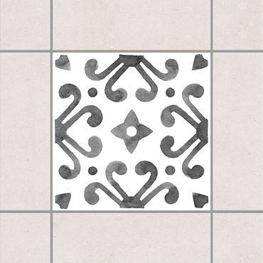 Adesivo per piastrelle - Pattern Gray White Series No.7