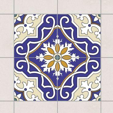 Adesivo per piastrelle - Set - Ornament from 4 Spanish tiles 10cm x 10cm