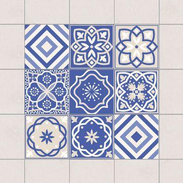 Adesivo per piastrelle - Set - Portuguese tiles set 10cm x 10cm