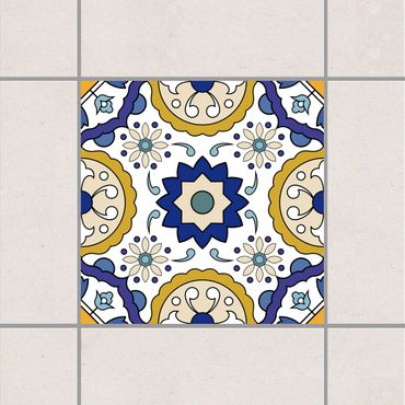 Adesivo per piastrelle - Set - Portuguese tile panel from 4 Azulejo tiles 10cm x 10cm