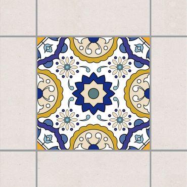 Adesivo per piastrelle - Portuguese tiles mirror of Azulejo 10cm x 10cm