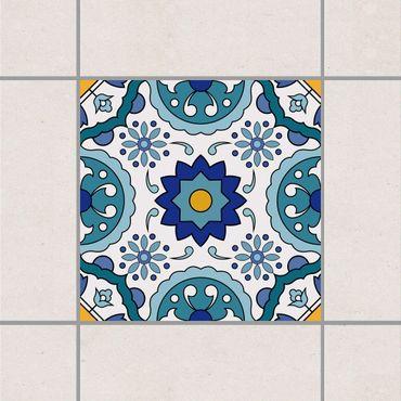 Adesivo per piastrelle - Portuguese tile pattern of Azulejo 10cm x 10cm