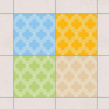 Adesivo per piastrelle - Retro Morocco Colour Set 20cm x 15cm