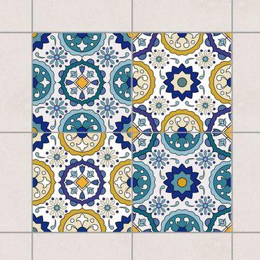Adesivo per piastrelle - Set - 4 Portuguese Azulejo tiles 10cm x 10cm