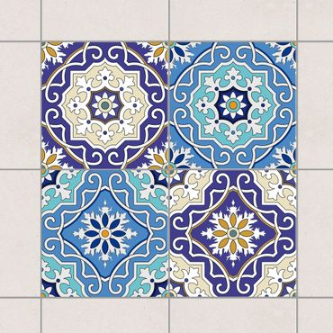 Adesivo per piastrelle - Set - 4 Spanish tiles 10cm x 10cm