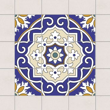 Adesivo per piastrelle - Set - Spanish tiled backsplash 10cm x 10cm