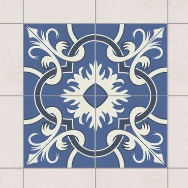 Adesivo per piastrelle - Set - Spanish mirror tiles from 4 tiles 10cm x 10cm