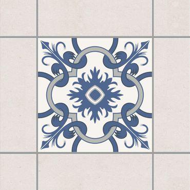 Adesivo per piastrelle - Spanish tiled backsplash crème blue 10cm x 10cm