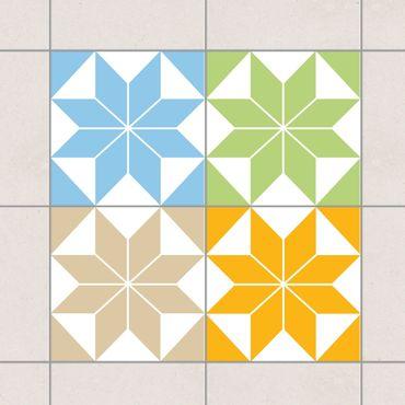 Adesivo per piastrelle - Star Pattern Colour Set 10cm x 10cm