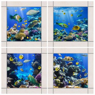 Adesivo per piastrelle - Underwater Set 20cm x 15cm