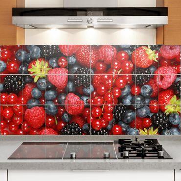 Adesivo per piastrelle - Fruity berries Formato orizzontale