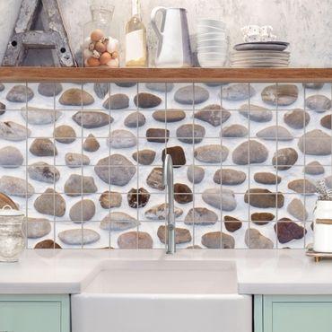 Adesivo per piastrelle - Andalusian stone wall Formato orizzontale