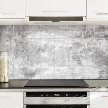 Adesivo per piastrelle - Industry-look concrete look Formato orizzontale
