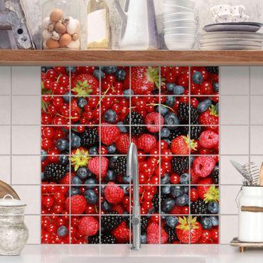 Adesivo per piastrelle - Fruity berries Formato quadrato
