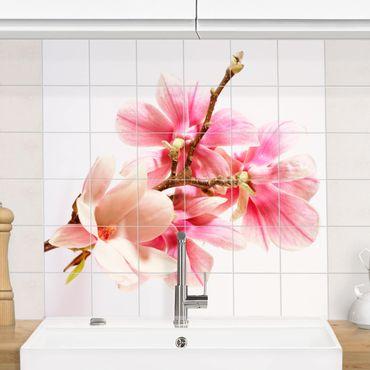 Adesivo per piastrelle - magnolia blossoms
