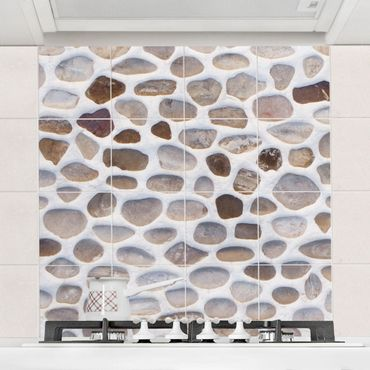 Adesivo per piastrelle - Andalusian stone wall Formato quadrato