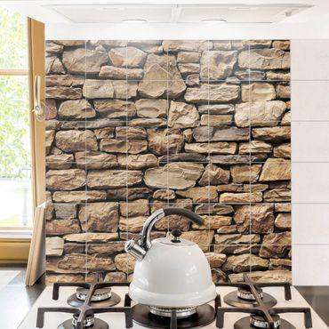 Adesivo per piastrelle - American stone wall