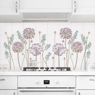 Adesivo per piastrelle - Allium Illustration - Orizzontale