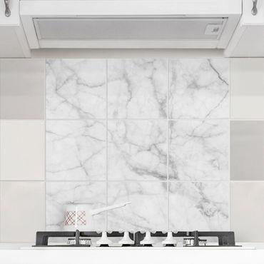 Adesivo per piastrelle - Bianco Carrara - Quadrato