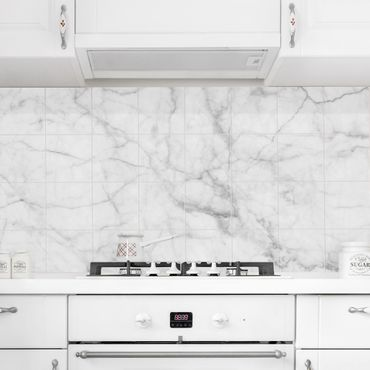 Adesivo per piastrelle - Bianco Carrara - Orizzontale