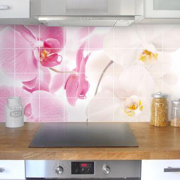 Adesivo per piastrelle - Delicate Orchids