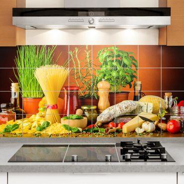 Adesivo per piastrelle - Italian Kitchen - Orizzontale