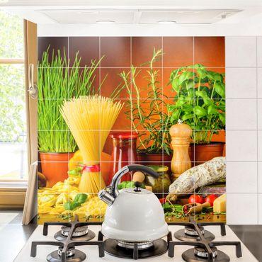 Adesivo per piastrelle - Italian Kitchen - Quadrato