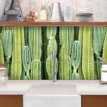 Adesivo per piastrelle - Cactus Wall - Orizzontale