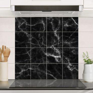 Adesivo per piastrelle - Nero Carrara - Quadrato