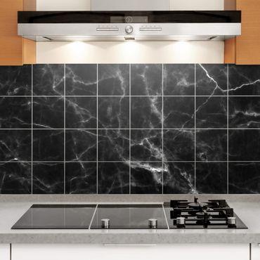 Adesivo per piastrelle - Nero Carrara - Orizzontale