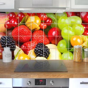 Adesivo per piastrelle - Fruit Mix