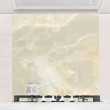 Adesivo per piastrelle - Onyx marble Cream