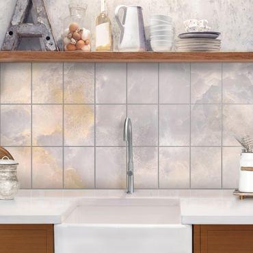 Adesivo per piastrelle - Onyx Marble Gray - Orizzontale