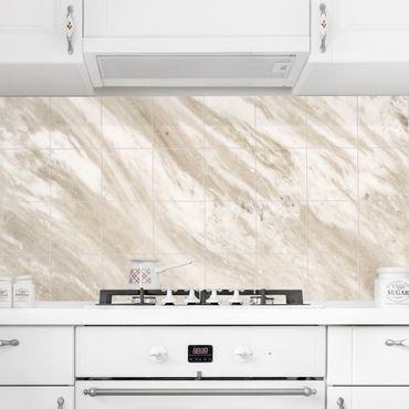 Adesivo per piastrelle - Palissandro Marble Beige - Quadrato